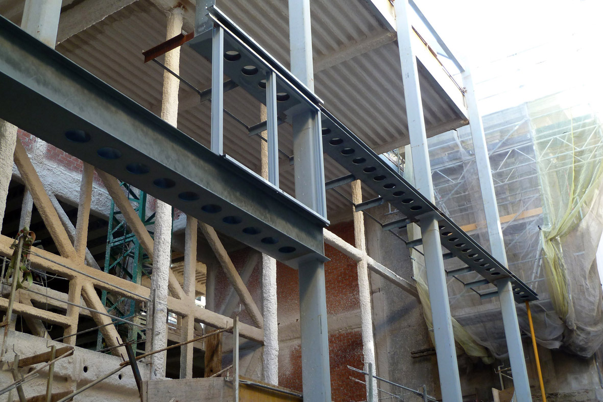 El proyecto de estructuras en el museo de las - Fachada hormigon in situ ...